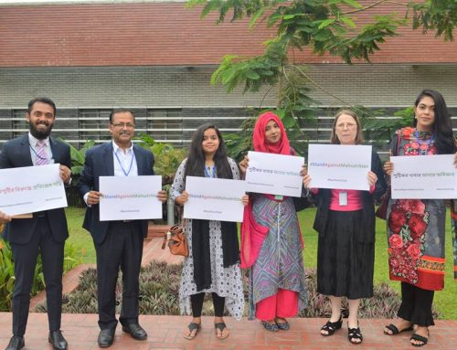 Embassy of France took part in #StandAgainstMalnutrition Photo Campaign