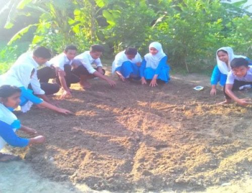 School Gardening activity by Joymontop High School Nutrition Club at Joymontop High School, Singair, Manikganj